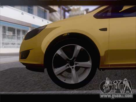 Opel Astra J 2011 for GTA San Andreas side view
