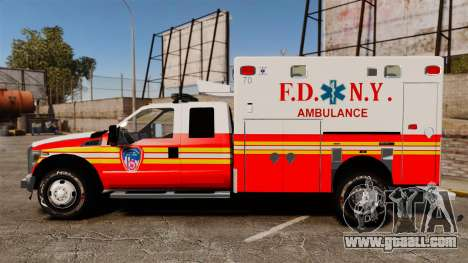 Ford F-350 2013 FDNY Ambulance [ELS] for GTA 4 left view
