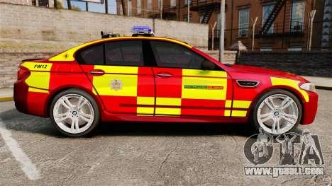 BMW M5 West Midlands Fire Service [ELS] for GTA 4 left view