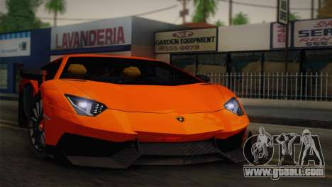 Lamborghini Aventador LP 700-4 RENM Tuning for GTA San Andreas back view