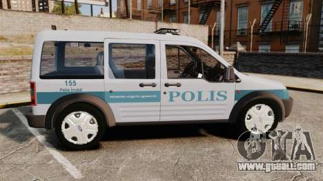 Ford Transit Connect Turkish Police [ELS] for GTA 4 left view