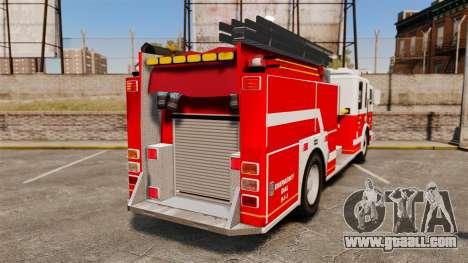 Firetruck Alderney [ELS] for GTA 4 back left view