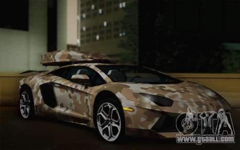 Lamborghini Aventador LP 700-4 Camouflage for GTA San Andreas