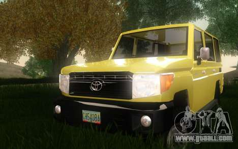 Toyota Land Cruiser Machito 2013 6Puertas 4x4 for GTA San Andreas back view
