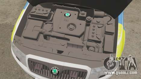 Skoda Superb 2006 Police [ELS] Whelen Justice for GTA 4 inner view