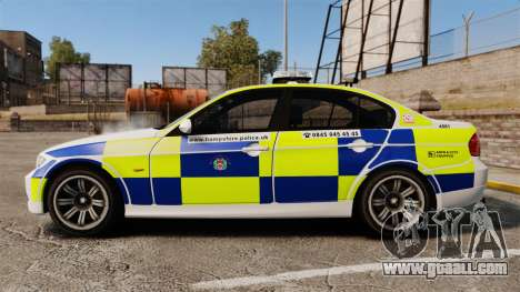 BMW 330i Hampshire Police [ELS] for GTA 4 left view