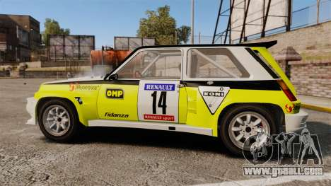 Renault 5 Turbo Maxi for GTA 4 left view