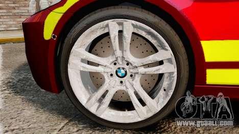 BMW M5 West Midlands Fire Service [ELS] for GTA 4 back view