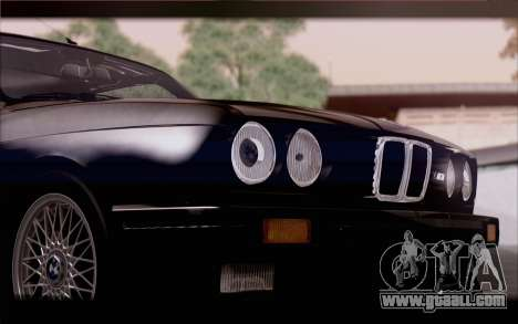 BMW M3 E30 Stock Version for GTA San Andreas back view