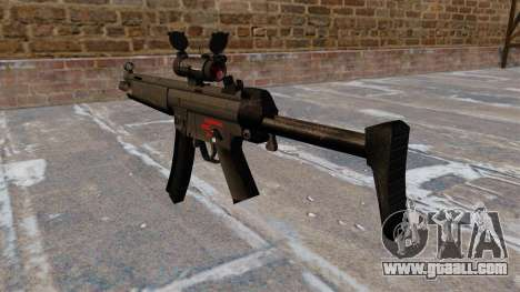 Submachine gun HK MR5A3 for GTA 4 second screenshot