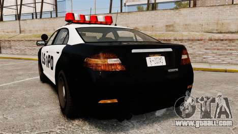 GTA V Vapid Police Interceptor LSPD for GTA 4 back left view