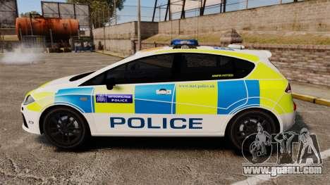 Seat Cupra Metropolitan Police [ELS] for GTA 4 left view