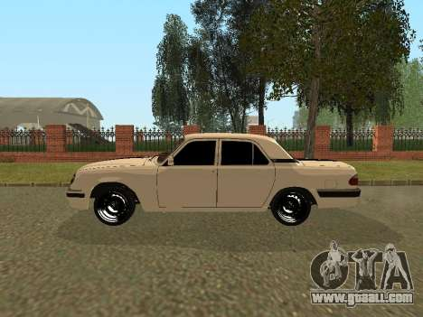 GAZ Volga 31105 for GTA San Andreas back left view