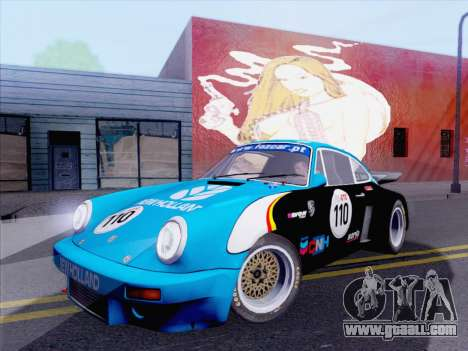 Porsche 911 RSR 3.3 skinpack 5 for GTA San Andreas right view