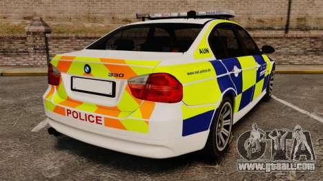 BMW 330i Metropolitan Police [ELS] for GTA 4 back left view