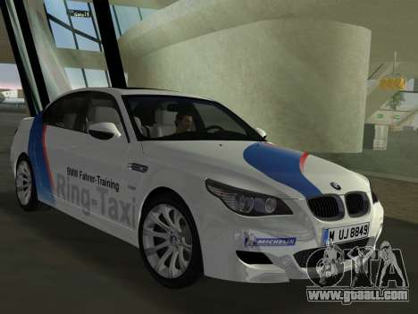 BMW M5 (E60) 2009 Nurburgring Ring Taxi for GTA Vice City back left view