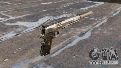 The AMT Hardballer semi-automatic pistol for GTA 4 second screenshot