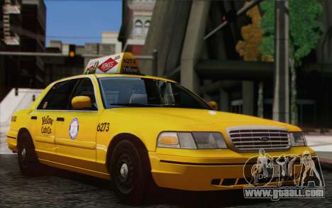 Ford Crown Victoria LA Taxi for GTA San Andreas back left view