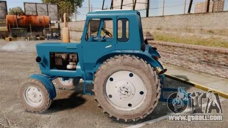 Tractor MTZ-80 for GTA 4 left view