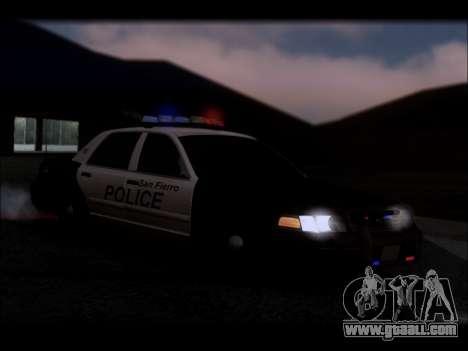 Ford Crown Victoria 2005 Police for GTA San Andreas interior