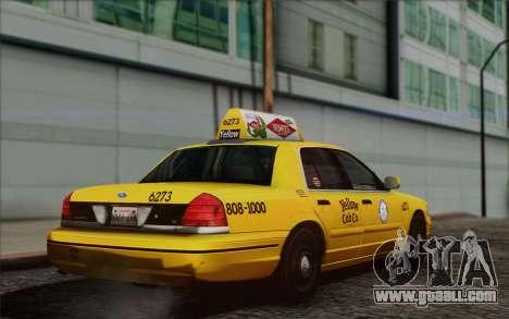 Ford Crown Victoria LA Taxi for GTA San Andreas left view