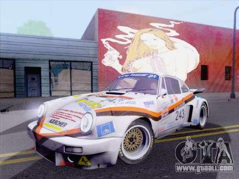 Porsche 911 RSR 3.3 skinpack 5 for GTA San Andreas back left view