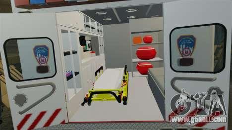 Ford F-350 2013 FDNY Ambulance [ELS] for GTA 4 back view