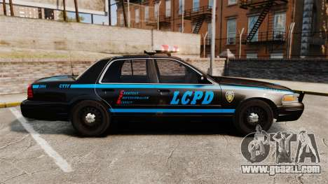 Ford Crown Victoria 1999 LCPD for GTA 4 left view
