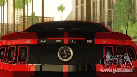 Ford Shelby GT500 2013 for GTA San Andreas back view