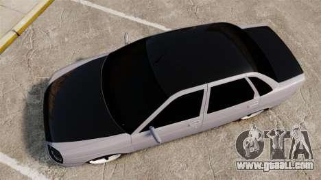 Vaz-2170 Lada Priora Turbo for GTA 4 right view