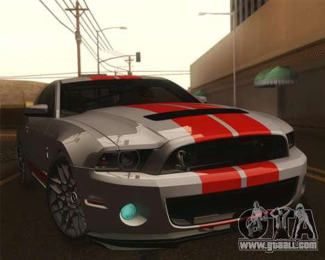 Ford Shelby GT500 2013 for GTA San Andreas upper view
