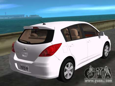 Nissan Tiida for GTA Vice City left view