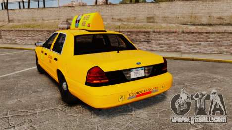 Ford Crown Victoria 1999 LCC Taxi for GTA 4 back left view