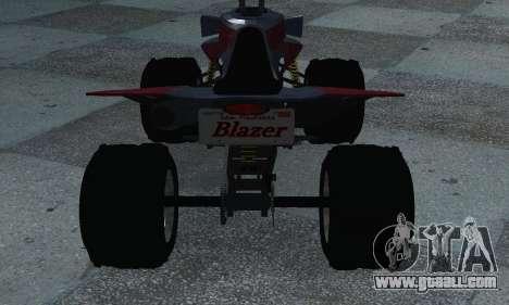 GTA 5 Blazer ATV for GTA San Andreas back left view