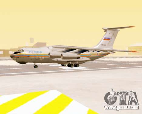 Il-76td EMERCOM of Russia for GTA San Andreas back left view