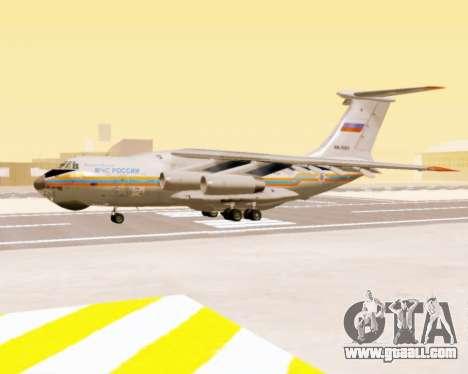 Il-76td EMERCOM of Russia for GTA San Andreas back left view