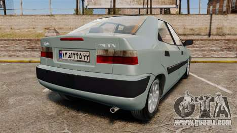 Citroen Xantia 1999 for GTA 4 back left view