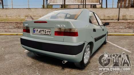 Citroen Xantia 1999 for GTA 4 back left view