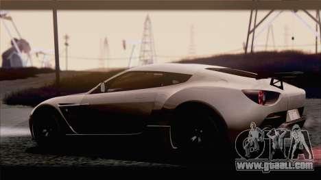 Aston Martin V12 Zagato 2012 [IVF] for GTA San Andreas right view