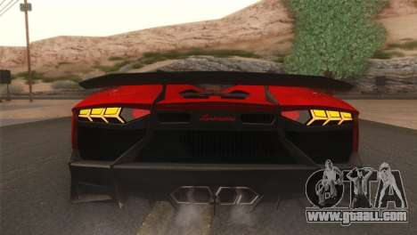Lamborghini Aventador J 2012 v1.0 for GTA San Andreas back view