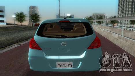 Nissan Tiida for GTA Vice City right view
