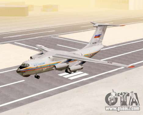 Il-76td EMERCOM of Russia for GTA San Andreas left view