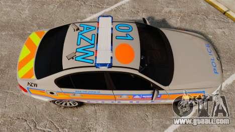 BMW 330 Metropolitan Police [ELS] for GTA 4 right view