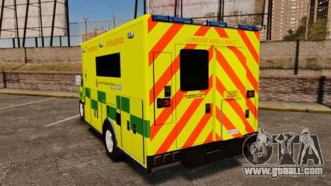 Mercedes-Benz Sprinter [ELS] London Ambulance for GTA 4 back left view