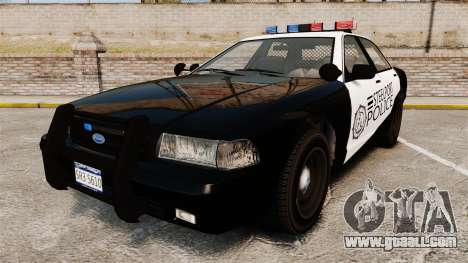 GTA V Vapid Steelport Police Cruiser [ELS] for GTA 4