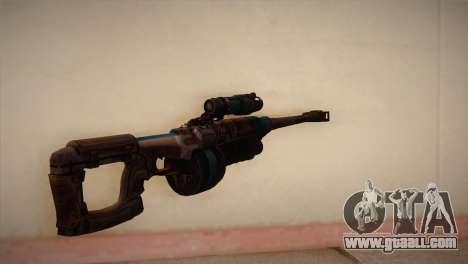 Sniper rifle from Bulletstorm for GTA San Andreas second screenshot