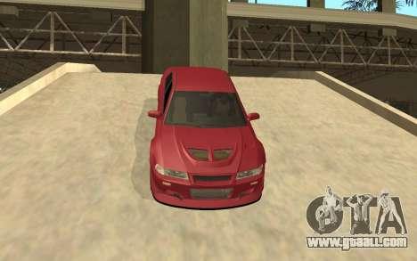 Mitsubishi Lancer Evolution VI for GTA San Andreas inner view