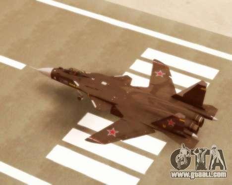Su-47 Berkut v1.0 for GTA San Andreas right view