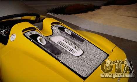 Porsche 918 Spyder 2014 for GTA San Andreas
