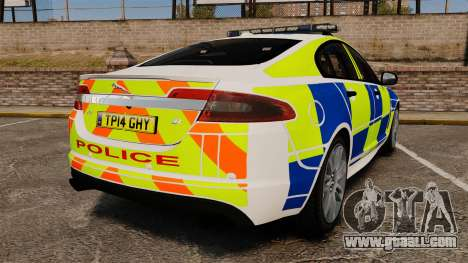 Jaguar XFR 2010 British Police [ELS] for GTA 4 back left view